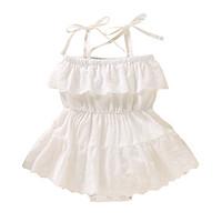 Summer Infant Baby Girls Bodysuit Sleeveless Rompers Kids Lace Design Strap Bodysuit Jumpsuit Newborn Bodysuit