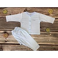 - Bộ noubaby kẻ dài tay cài khuy cho bé từ sơ sinh từ 0-24 tháng