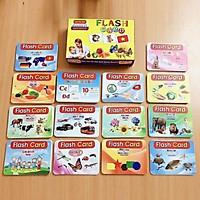 Bộ Thẻ Học Thông Minh 19 Chu Đề Loại To Song ngữ tiếng Anh loại chuẩn Glenn Doman Flashcard cho bé từ 0-6 tuổi