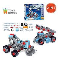 Đồ chơi phát triển kỹ năng cho bé - DIY MODELS lắp ghép mô hình 3D 2 trong 1 Toyhouse TLH  nhựa mềm - TẶNG ĐỒ CHƠI TẮM 2 MÓN