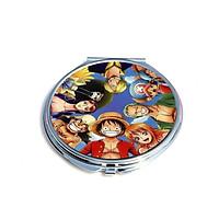 Gương One piece anime chibi gương bỏ túi cầm tay 2 mặt dễ thương tiện lợi quà tặng độc đáo ( tròn )