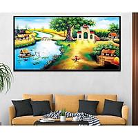 Tranh canvas treo tường làng quê Việt Nam - QVN005