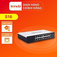 Tenda Bộ chia mạng Switch S16 16 cổng Ethernet 100Mbps - Hàng Chính Hãng