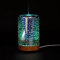 Máy tạo ẩm khuếch tán tinh dầu 3D Glass L2 ( giao đèn led màu ngẫu nhiên)