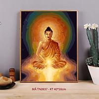 Tranh tô màu số hóa Tranh Đức Phật ngồi thiền Phật giáo TN0937