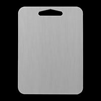Thớt Inox 304 Kháng Khuẩn Cừờng Lực - Dày 3mm- Vệ Sinh Dễ Dàng- Rã Đông Nhanh - Chống Ẩm Mốc - Không Xước Dăm- Không Mùn Gỗ