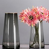 Bộ 2 bình hoa viền mạ vàng - Lọ hoa đẹp