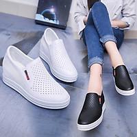 Giày Sneaker Nữ Độn Đế 6cm  Da PUMã H35 (form nhỏ hơn giày thường 1 size)