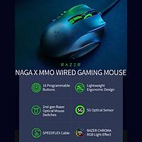 Chuột chơi game có dây Razer Naga X MMO có 16 nút bấm