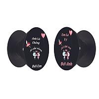 Combo 2 giá đỡ điện thoại - Popsocket cặp đôi Anh và Em cute - dễ thương - độc lạ - Hàng chính hãng