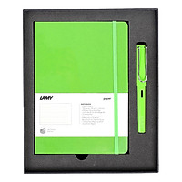 Gift Set Lamy Notebook A5 Softcover Green+ Lamy Safari Green - GSNSa0010