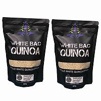 Bộ 2 Túi Hạt diêm mạch WHITE BAG QUINOA 500gram ( Hạt màu trắng )