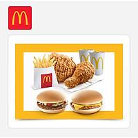 McDonald's - Combo 129k – Pork Burger + Hamburger (E-code - Combo 129k (1 Ham + 1 Pork)
