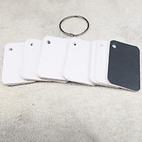 500 thẻ Flashcard Trắng 5x8 cao cấp bo 4 góc + 5 khoen tròn 5cm
