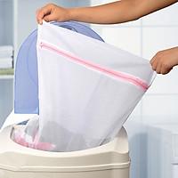 Túi lưới giặt đồ cho máy giặt hình vuông 60cm Japan +  Tặng gói hồng trà sữa (Cafe) Maccaca siêu ngon