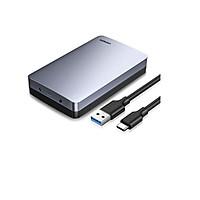 box ổ cứng cổng Type C gắn pc cổng Usb 3.1 Gen2 Ugreen 301GB70501CM 2.5 3.5 Inch 6Gb hàng chính hãng