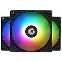 3 quạt tản nhiệt ID-Cooling XF-12025 5V ARGB, Led đồng bộ mainboard, bản màu đen - Hàng nhập khẩu