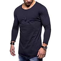 Áo thun nam dài tay vải cotton xược hè 2019