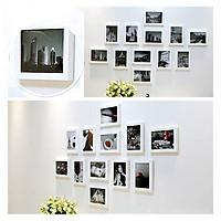 Bộ 12 Khung ảnh Composite Treo Tường phòng khách KA1204 Miễn phí phụ kiện.
