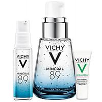 Bộ sản phẩm Serum khoáng Phục hồi chuyên sâu với Mineral 89 30ml và Kem dưỡng giảm mụn giảm nhờn Vichy Normaderm Phytosolution 3ml