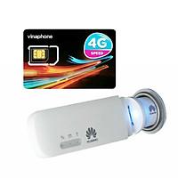 Huawei E8372 | USB 4G phát wifi Huawei E8372 tốc độ cao + Sim 4G Viaphone trọn Gói 12 Tháng | 5.5GB/Tháng  - Hàng Nhập Khẩu