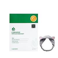 Combo 10 Mặt Nạ Dưỡng Ẩm, Giảm Mụn, Thâm Caryophy Portulaca Mask Sheet 22g + Tặng kèm 1 băng đô tai mèo ( màu ngẫu nhiên)
