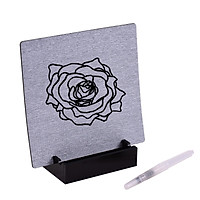 Reusable Buddha Board Artist Board Paint with Water Brush & Stand Release Pressure Relaxation Meditation Art Mindfulness