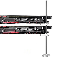 GM962 Aluminum Vertical Graphics Card Holder Double Support Jack Bracket Desktop PC Case Video Card Stand Cooling