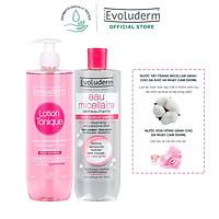 Bộ sản phẩm chăm sóc dành cho da khô và nhạy cảm Evoluderm (3069 và 15249)