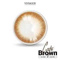 Lens cho mắt thở Hàn Quốc nâu trong VIVIMOON Cute Brown 13.1 mm