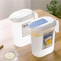 Bộ 2 bình đựng nước để tủ lạnh có quai siêu tiện dụng - Hàng nội địa Nhật
