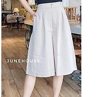 Quần ống rộng giả váy lửng chất đũi nhiều màu siêu mát ống rộng sành điệu thiết kế theo xu hướng năng động mà thanh lịch