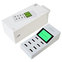 Adapter Dock hub 8 cổng sạc USB toàn cầu có màn hình LCD Aturos YC-CDA6 - Hàng nhập khẩu
