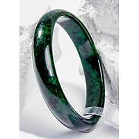 Vòng Tay Phong Thủy Nữ Đá Cẩm Thạch Sơn Thủy Nguyên Khối (50mm) Mệnh Mộc, Hỏa Ngọc Quý Gemstones