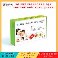 Thẻ Học Thông Minh- Flashcard Thế Giới Xung Quanh Theo Phương Pháp Glenn Doman-Cho Bé Từ 0-4 Tuổi (Hộp 100 Thẻ)