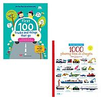 Bộ 2 cuốn sách dành cho kỹ sư tương lại: 1000 Phương Tiện Di Chuyển - Lift The Flap 100 Từ Đầu Tiên Về Các Phương Tiện Giao Thông