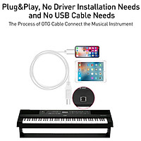 iOS 13 Charging Cable MIDI USB OTG Type B Keyboard Adapter for iPhone X XS MAX XR 8 7 6 Electric Piano Audio Connector