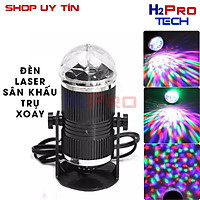 Đèn laser led Mini trụ xoay cảm ứng HF 011 đổi màu cảm ứng nhạc- Led Mini Stage Light