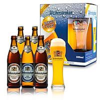 Combo 5 chai bia Đức Weihenstephan 500ml ( 3 Hefeweissbier + 2 Dunkel) + 1 ly