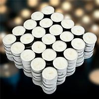 Nến tealight 50 viên không mùi dày 1.1cm cháy từ 2h-2h30 | Bio Aroma