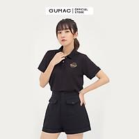 Áo polo nữ GUMAC ATB851 thêu mẫu mới