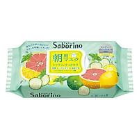 Mặt Nạ Dưỡng Ẩm Buổi Sáng Hương Bạc Hà Saborino Morning Facial Sheet Mask Minty Fresh 306g (Gói 32 Miếng)