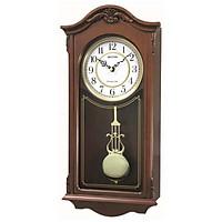 Đồng hồ treo tường RHYTHM WOODEN WALL CLOCKS CHIME CMJ502FR06 ( Kích thước 23.0 x 48.1 x 10.9cm), Vỏ màu nâu