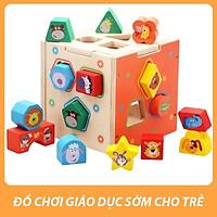 Bộ Đồ Chơi Hộp thả hình khối gỗ động vật - Đồ chơi giáo dục cho trẻ em, Giúp con phát triển kỹ năng sớm