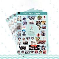 Set 4 tấm dán Sticker EXO