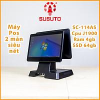 MÁY POS BÁN HÀNG SC-114AS - Hàng chính hãng(J1900, 4G DDR RAM, 64G SSD, 14 inch, Black, 2 màn)