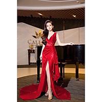 Đầm maxi dạ hội dự tiệc cổ V TRIPBLE T DRESS -Size M/L(kèm ảnh/video thật)MS134Y