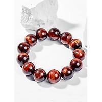 Vòng Tay Phong Thủy Nam Đá Mắt Hổ Nâu Đỏ (18mm) Mệnh Hỏa, Thổ Ngọc Quý Gemstones