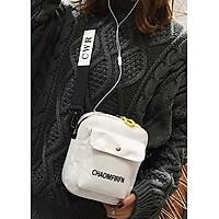 Túi đeo chéo nữ chất liệu vải bố , nhiều ngăn 98-907