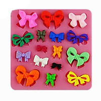 1Pcs DIY Many Mini Bows Bow-knot Silicone Cake Mold For Cakes Baking Tools